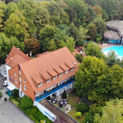 Vogelperspektive Hotel zur Therme in Erwitte Bad Westernkotten