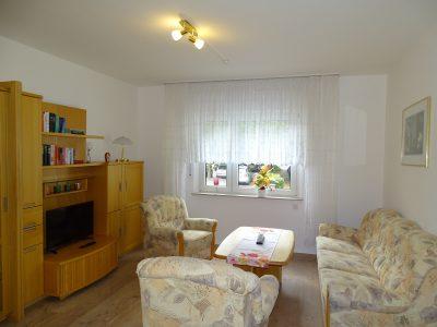 Wohnzimmer in der Ferienwohnung zur Therme in Erwitte Bad Westernkotten